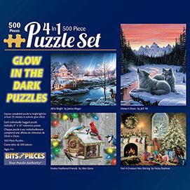 Glow-In-The-Dark 500 Piece 4-in-1 Multi-Pack Set