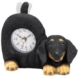 Tail Wagging Dachshund Clock