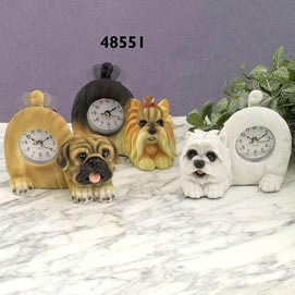 Tail Wagging Yorkie Clock