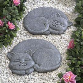 Sleeping Cat Stepping Stone- Left