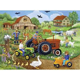 Tractor Trio 500 Piece Jigsaw Puzzle