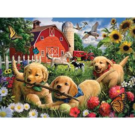 Farmyard Pups 300 Large Piece Jigsaw Puzzle