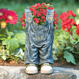 Overall Jeans Planter