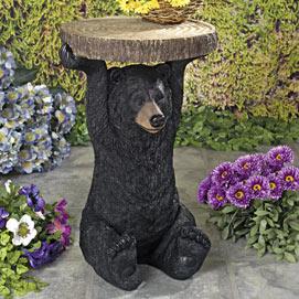 Rustic Bear Side Table