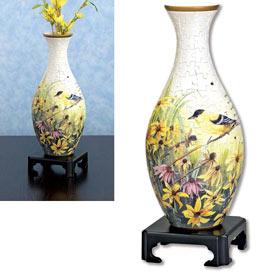 Yellow Bird Vase Puzzle