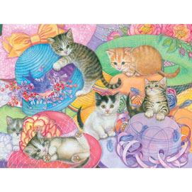 Hat Shop Kittens 300 Large Piece Jigsaw Puzzle