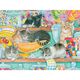 Candy Shop Kittens 300 Large Piece Jigsaw Puzzle