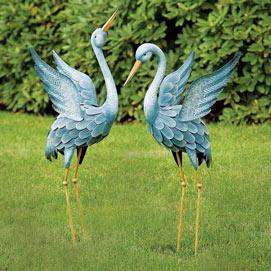 Set of 2: Japanese Blue Herons