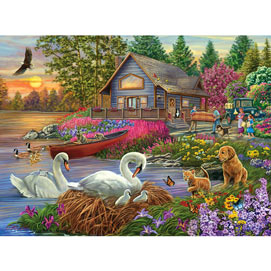 Settling In 300 Large Piece Jigsaw Puzzle