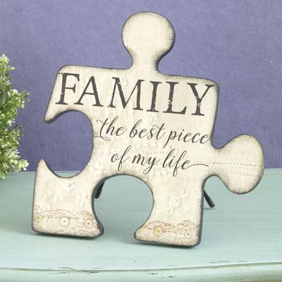 Family Puzzle Piece Plaque