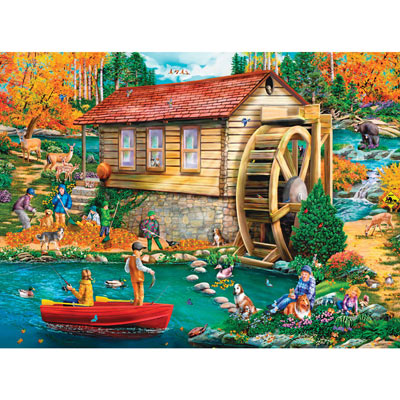 Autumn Gristmill 1000 Piece Jigsaw Puzzle