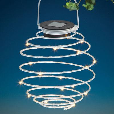 Solar Spiral LED Lantern