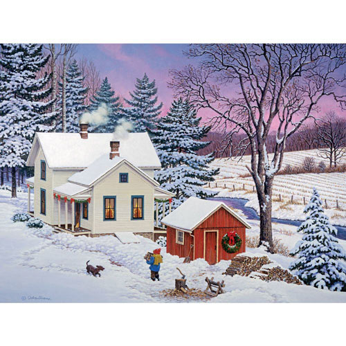 North Country Christmas 300 Large Piece Jigsaw Puzzle