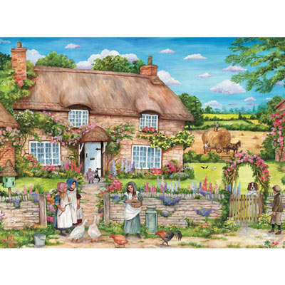 Cottage Gathering 1000 Piece Jigsaw Puzzle