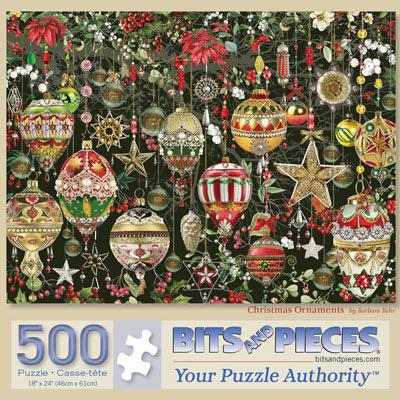 Christmas Ornaments 500 Piece Jigsaw Puzzle
