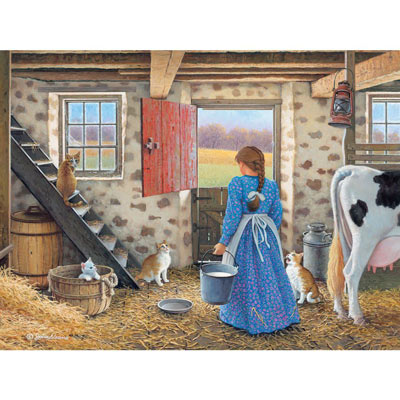 Get The Milk 300 Large Piece Jigsaw Puzzle