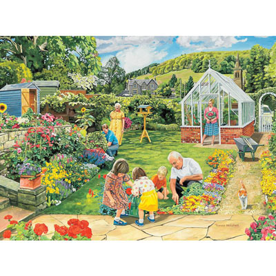 Gardening With Granddad 300 Large Piece Jigsaw Puzzle