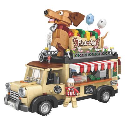 3-D Hot Dog Food Truck Model