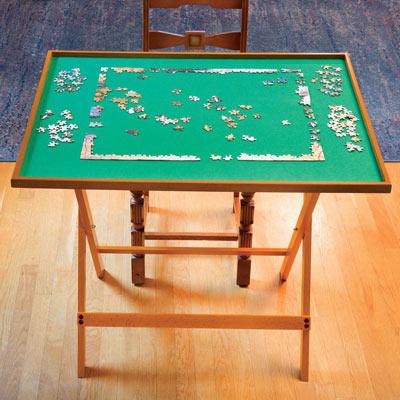 Fold Away Puzzle Table - Oak Tone