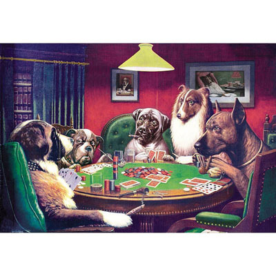 Coolidge Dogs 500 Piece Jigsaw Puzzle