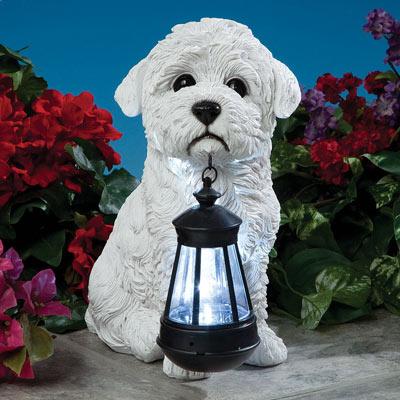 Dog Solar Lantern- Bichon