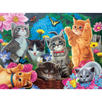 Playtime In The Garden 1000 Piece Jigsaw Puzzle