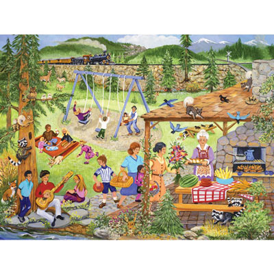 Picnic In The Park 300 Large Piece Jigsaw Puzzle
