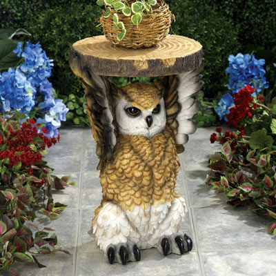 Sculptural Owl Accent Table