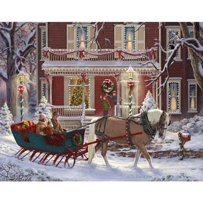 Christmas Sleigh 500 Piece Jigsaw Puzzle