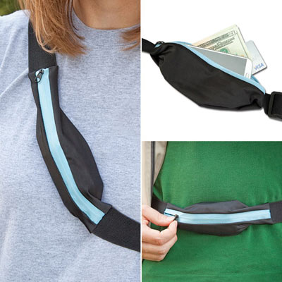 Expandable Action Belt With Zipper Pouch
