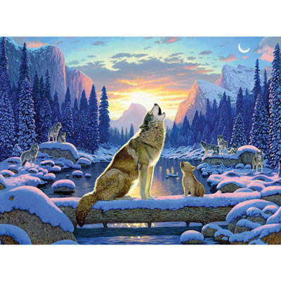 Sitting Wolf And Cub 1000 Piece Jigsaw Puzzle