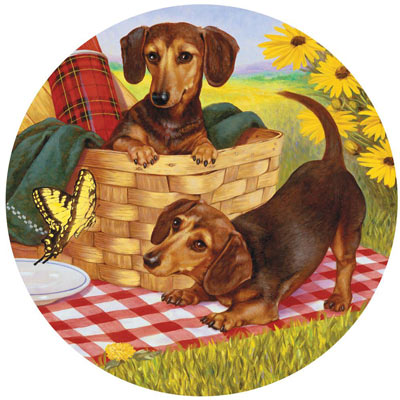 Picnic Supper 500 Piece Round Jigsaw Puzzle