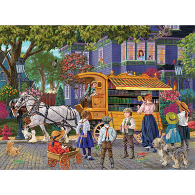 Book Mobile 500 Piece Jigsaw Puzzle