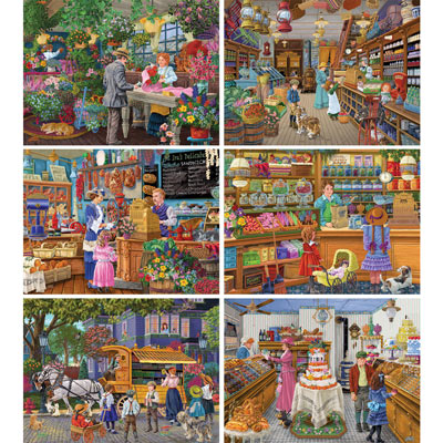Set of 6: Joseph Burgess 500 Piece Jigsaw Puzzles