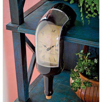 Melting Wine Bottle Clock