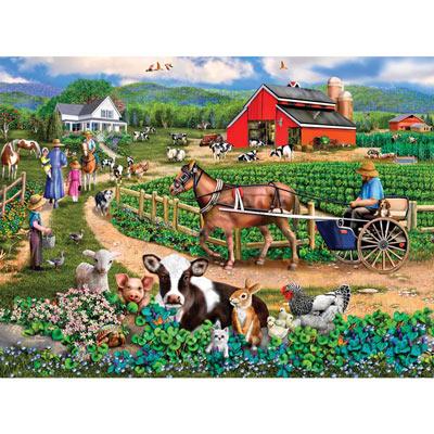 Family Farm 1000 Piece Jigsaw Puzzle