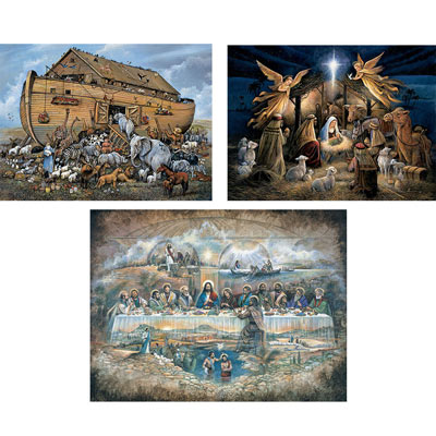 Set of 3: The Power Of Inspiration 300 Large Piece Jigsaw Puzzles