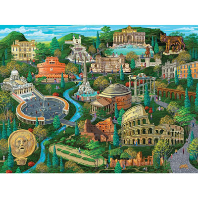 Rome 300 Large Piece Jigsaw Puzzle