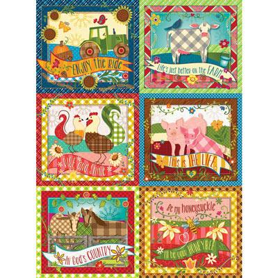 Farm Quilt 1000 Piece Jigsaw Puzzle