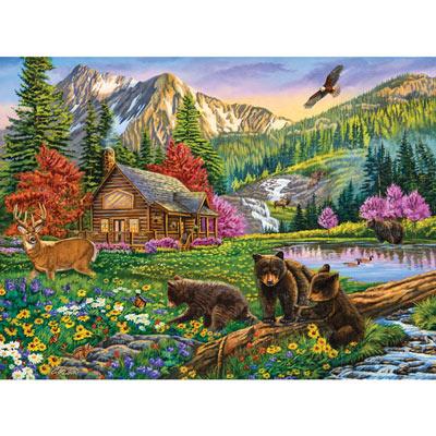 Mountain Hideaway 500 Piece Jigsaw Puzzle