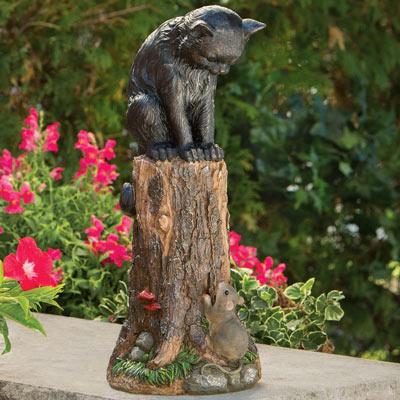 Cat & Mouse Garden Sculpture