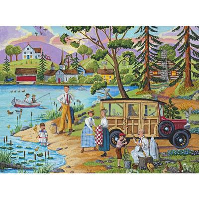 Lakeside Picnic 500 Piece Jigsaw Puzzle