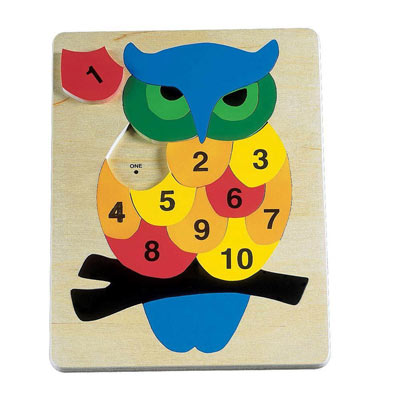 Counting Owl Wooden Puzzle