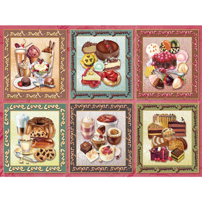 Chocolate Delight Quilt 1000 Piece Jigsaw Puzzle