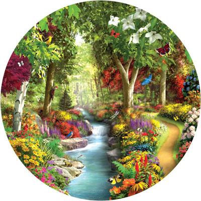 Morning Daydream 500 Piece Round Jigsaw Puzzle