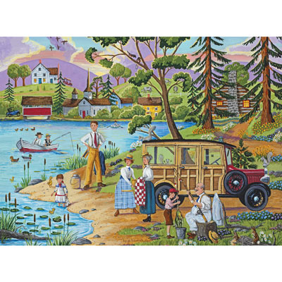 Lakeside Picnic 1000 Piece Jigsaw Puzzle