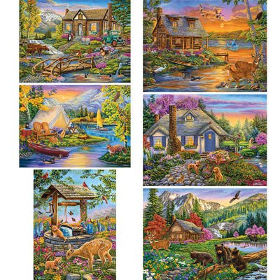 Set of 6: Cory Carlson 500 Piece Jigsaw Puzzles
