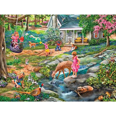 Blue Bells Forest 1000 Piece Jigsaw Puzzle