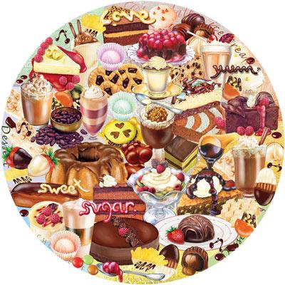 I Love Chocolate 300 Large Piece Round Jigsaw Puzzle