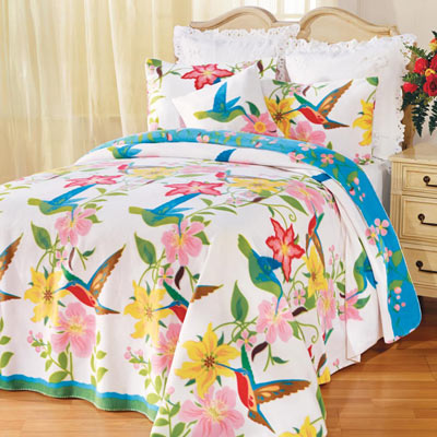 Hummingbird Garden Fleece Blankets and Accessories
